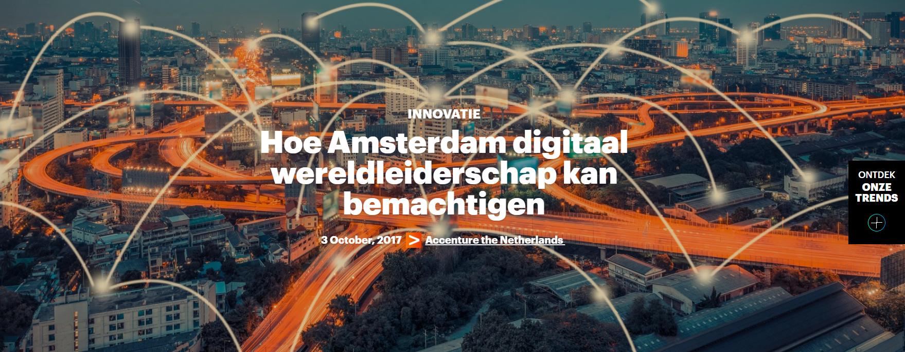 Amsterdam kan digitaal wereldleiderschap bemachtigen